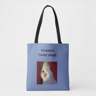 Cockatiel Tweet Heart Tote Bag