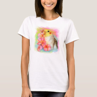 Cockatiel with frangipani T-Shirt