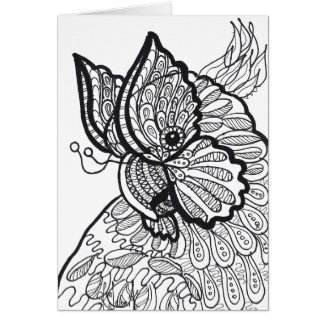 Cockatoo butterfly card