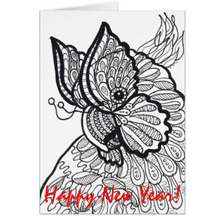 Cockatoo butterfly - Happy New Year Card