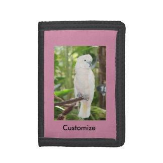 Cockatoo Customize Black TriFold Nylon Wallet