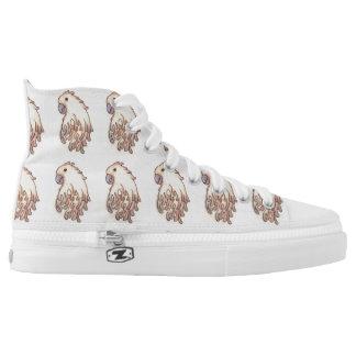 Cockatoo Design High Top Sneakers