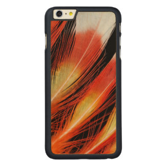 Cockatoo Feather Pattern Carved Maple iPhone 6 Plus Case