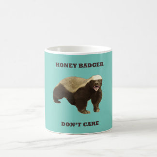 Cockatoo Mint Honey Badger Don't Care Pattern Mugs