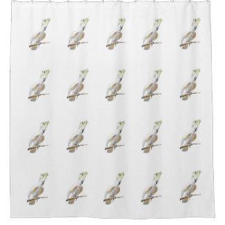 cockatoo shower curtain