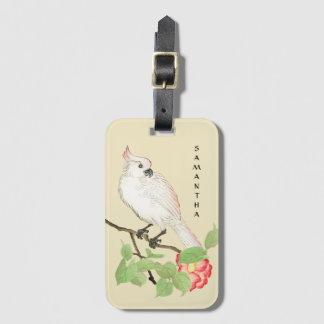 Cockatoo Vintage Japanese Camellia Luggage Tag