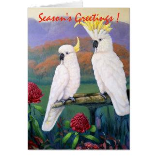 Cockatoos - Season's Greetings Card