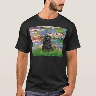 Cocker (black) - Lilies 2 T-Shirt
