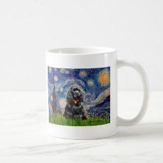 Cocker (black) - Starry Night Basic White Mug