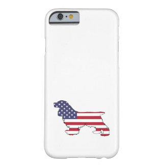 "Cocker spaniel ""American Flag"" Barely There iPhone 6 Case"