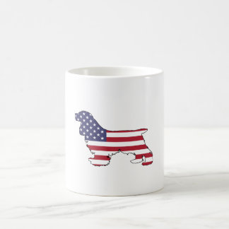 "Cocker spaniel ""American Flag"" Coffee Mug"