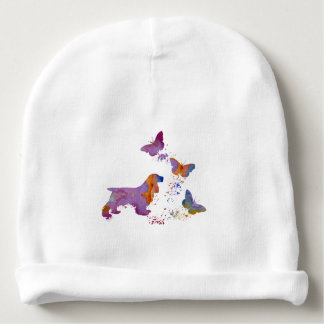 Cocker spaniel and butterflies baby beanie