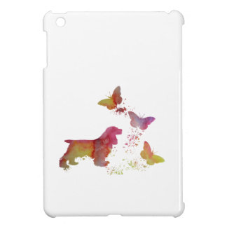 Cocker spaniel and butterflies iPad mini covers