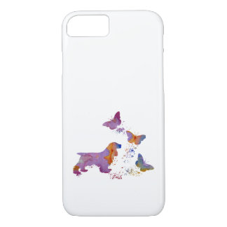 Cocker spaniel and butterflies iPhone 8/7 case