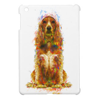 Cocker spaniel and watercolor iPad mini case