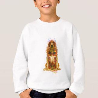 Cocker spaniel and watercolor sweatshirt