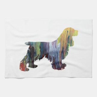 Cocker Spaniel Art Tea Towel