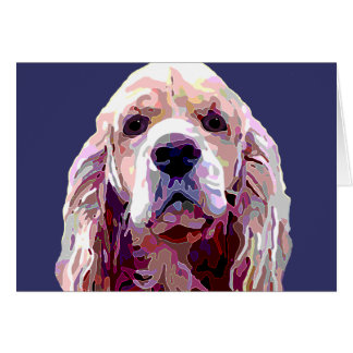 Cocker Spaniel Attitude Greeting card