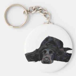Cocker Spaniel Basic Round Button Key Ring