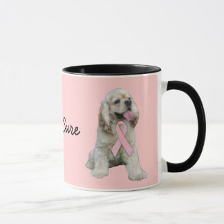 Cocker Spaniel Breast Cancer Mug