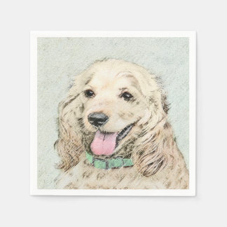 Cocker Spaniel (Buff) Disposable Napkin