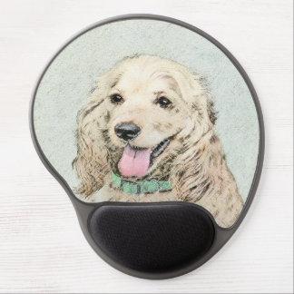 Cocker Spaniel Buff Painting - Original Dog Art Gel Mouse Pad