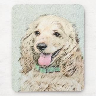 Cocker Spaniel Buff Painting - Original Dog Art Mouse Pad