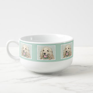 Cocker Spaniel Buff Painting - Original Dog Art Soup Mug