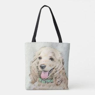 Cocker Spaniel Buff Painting - Original Dog Art Tote Bag