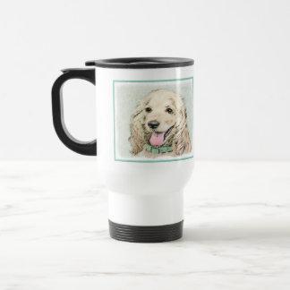 Cocker Spaniel Buff Painting - Original Dog Art Travel Mug
