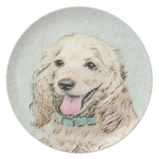 Cocker Spaniel (Buff) Plate