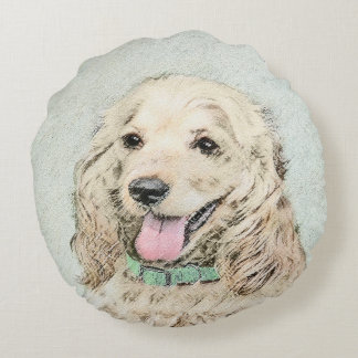 Cocker Spaniel (Buff) Round Cushion