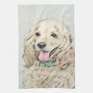 Cocker Spaniel (Buff) Tea Towel