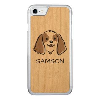 Cocker Spaniel Cartoon Dog - Custom Text Carved iPhone 7 Case