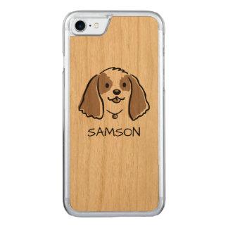 Cocker Spaniel Cartoon Dog - Custom Text Carved iPhone 8/7 Case