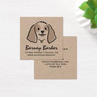 Cocker Spaniel Cartoon Dog Square Business Card