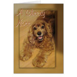 Cocker Spaniel Cheer You-customise any occasion Greeting Card