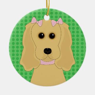 Cocker Spaniel Dog Design Christmas Ornament
