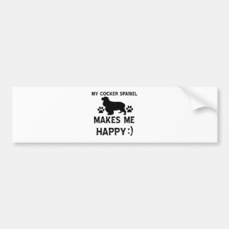 Cocker Spaniel dog designs Bumper Sticker