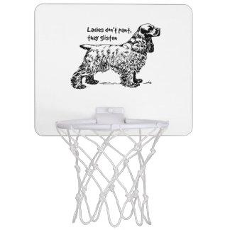 Cocker Spaniel Dog Lady Pet Mini Basketball Hoop