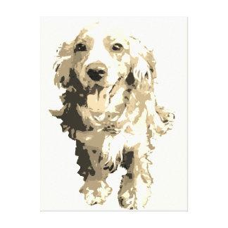 Cocker Spaniel dog Wall art - Sepia