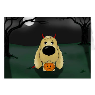 Cocker Spaniel Halloween Card