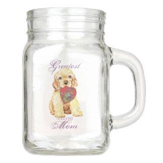 Cocker Spaniel Heart Mom Mason Jar