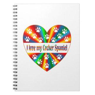 Cocker Spaniel Love Note Books