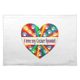 Cocker Spaniel Love Placemat