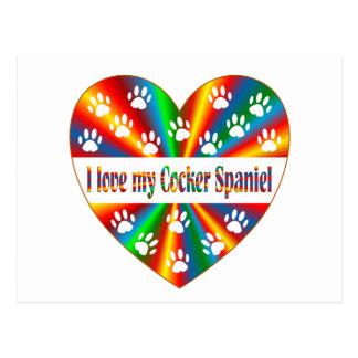 Cocker Spaniel Love Postcard