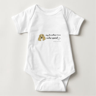 cocker spaniel - more breeds baby bodysuit