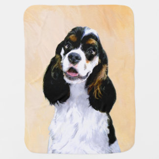 Cocker Spaniel (Parti-Colored) Baby Blanket