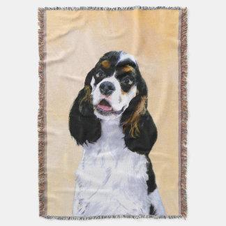 Cocker Spaniel (Parti-Colored) Throw Blanket