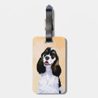 Cocker Spaniel (Parti) Painting - Original Dog Art Luggage Tag
